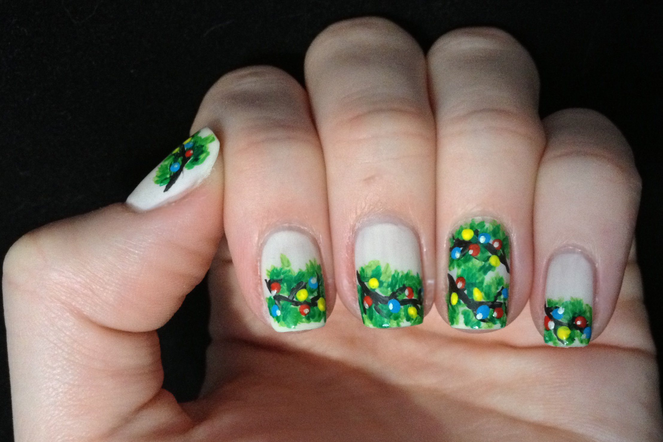 NOTD: Christmas Tree Branches
