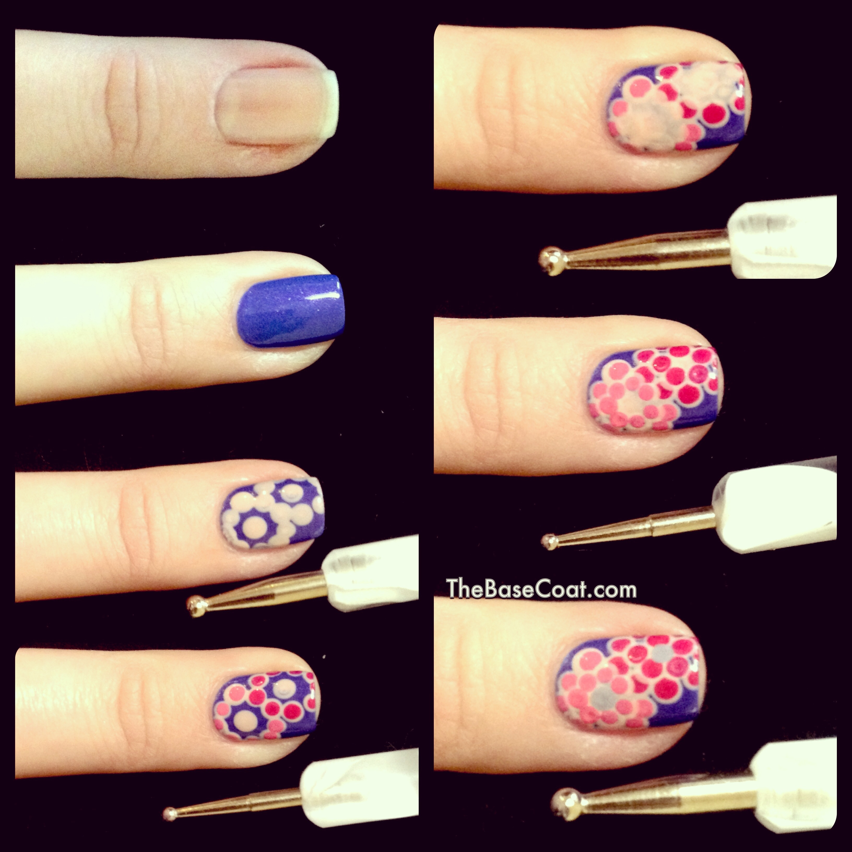 Step By Step: Dotting Tool Flowers